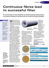 Eureka Engineering Design Journal - Continuous fibres wind filter success